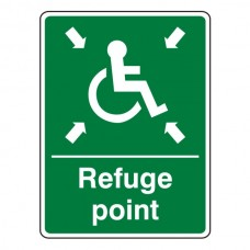 Refuge Point With Wheelchair Sign (Portrait)