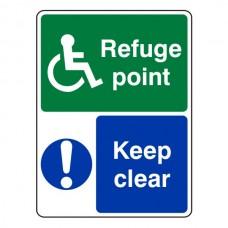 Refuge Point Keep Clear Sign (Portrait)