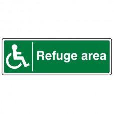 Refuge Area Sign (Landscape)