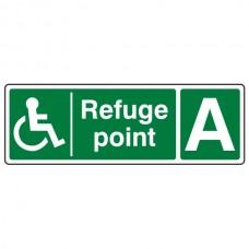 Refuge Point With Letter Sign (Landscape)
