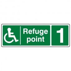 Refuge Point With Number Sign (Landscape)