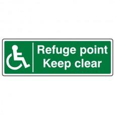 Refuge Point Keep Clear Sign (Landscape)
