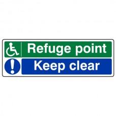 Refuge Point / Keep Clear Sign (Landscape)