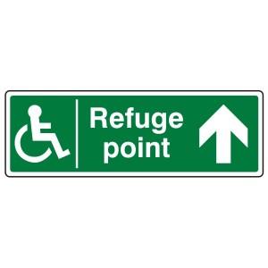 Refuge Point Arrow Up Sign