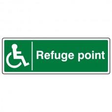 Refuge Point Sign (Landscape)