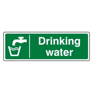 Drinking Water Sign (Landscape)