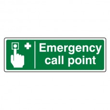 Emergency Call Point Sign (Landscape)