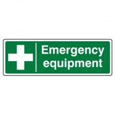 Emergency Equipment Sign (Landscape)
