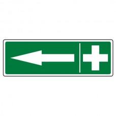 First Aid Arrow Left Sign (Landscape)