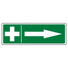 First Aid Arrow Right Sign (Landscape)