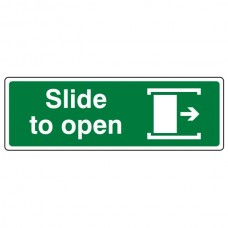 Slide To Open Right Sign (Landscape)