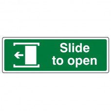 Slide To Open Left Sign (Landscape)