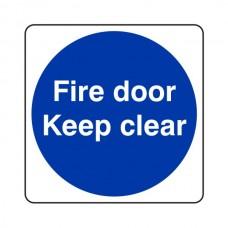 Fire Door Keep Clear Sign