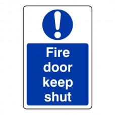 Fire Door Keep Shut Sign (Portrait)