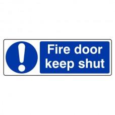 Fire Door Keep Shut Sign (Landscape)