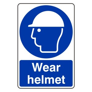 Wear Helmet Sign