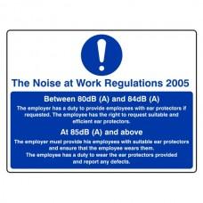 Noise at Work Regulations 2005 Sign (Large Landscape)