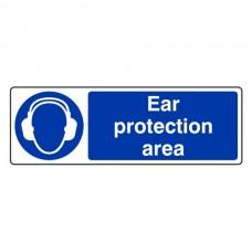 Ear Protection Area Sign (Landscape)