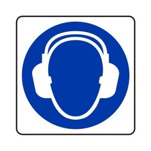 Ear Protection Logo Sign