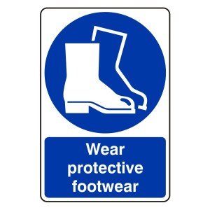 Wear Protective Footwear Sign