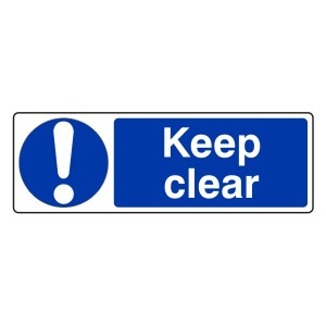 Keep Clear Sign (Landscape)