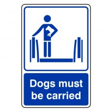 Dogs Must Be Carried Escalator Sign