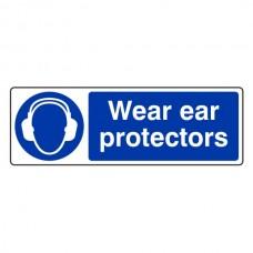 Wear Ear Protectors Sign (Landscape)