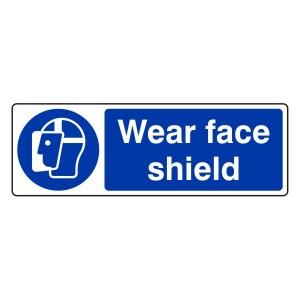 Wear Face Shield Sign (Landscape)