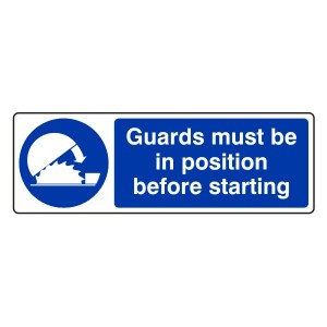 Guards Must Be In Position Sign (Landscape)
