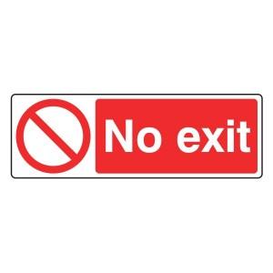 No Exit Sign (Landscape)