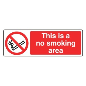 This Is A No Smoking Area Sign (Landscape)