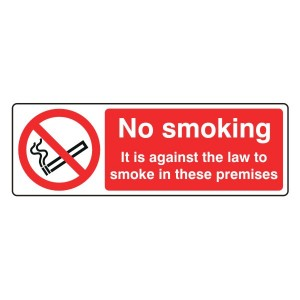 No Smoking In These Premises Sign (Landscape)