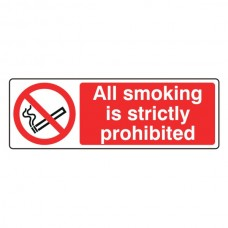 All Smoking Strictly Prohibited Landscape Sign (Landscape)