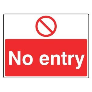 No Entry Sign (Large Landscape)