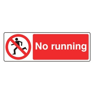 No Running Sign (Landscape)