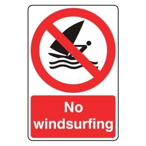 No Windsurfing Sign