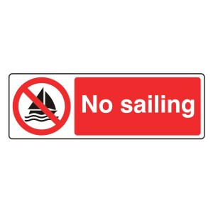 No Sailing Sign (Landscape)