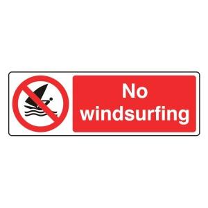 No Windsurfing Sign (Landscape)