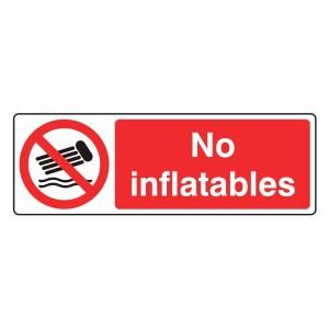 No Inflatables Sign (Landscape)