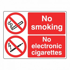 No Smoking / No Electronic Cigarettes Sign