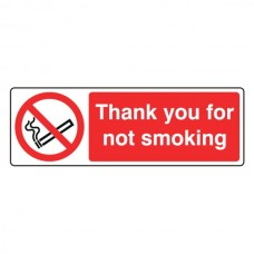 Thank You For Not Smoking Sign (Landscape)