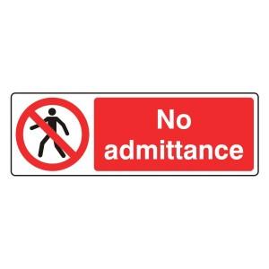No Admittance Sign (Landscape)