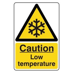 Caution Low Temperature Sign