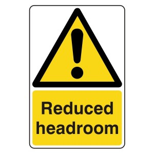 Reduced Headroom Sign