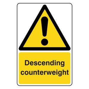 Descending Counterweight Sign