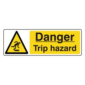 Danger Trip Hazard Sign (Landscape)