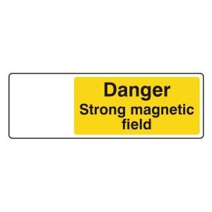 Danger Strong Magnetic Field Sign (Landscape)