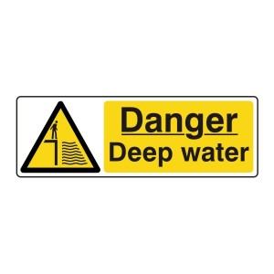 Danger Deep Water Sign (Landscape)