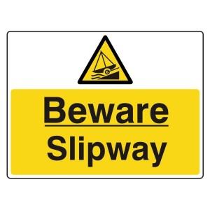 Beware Slipway Sign (Large Landscape)