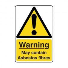 May Contain Asbestos Fibres Sign